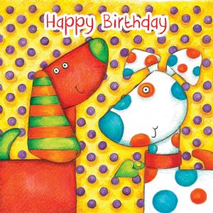 Dogs Birthday Card With Googly Eyes TW276